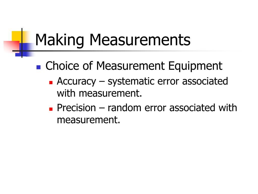 Making Measurements