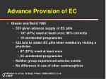advance provision of ec
