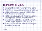 highlights of 2005