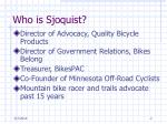 who is sjoquist