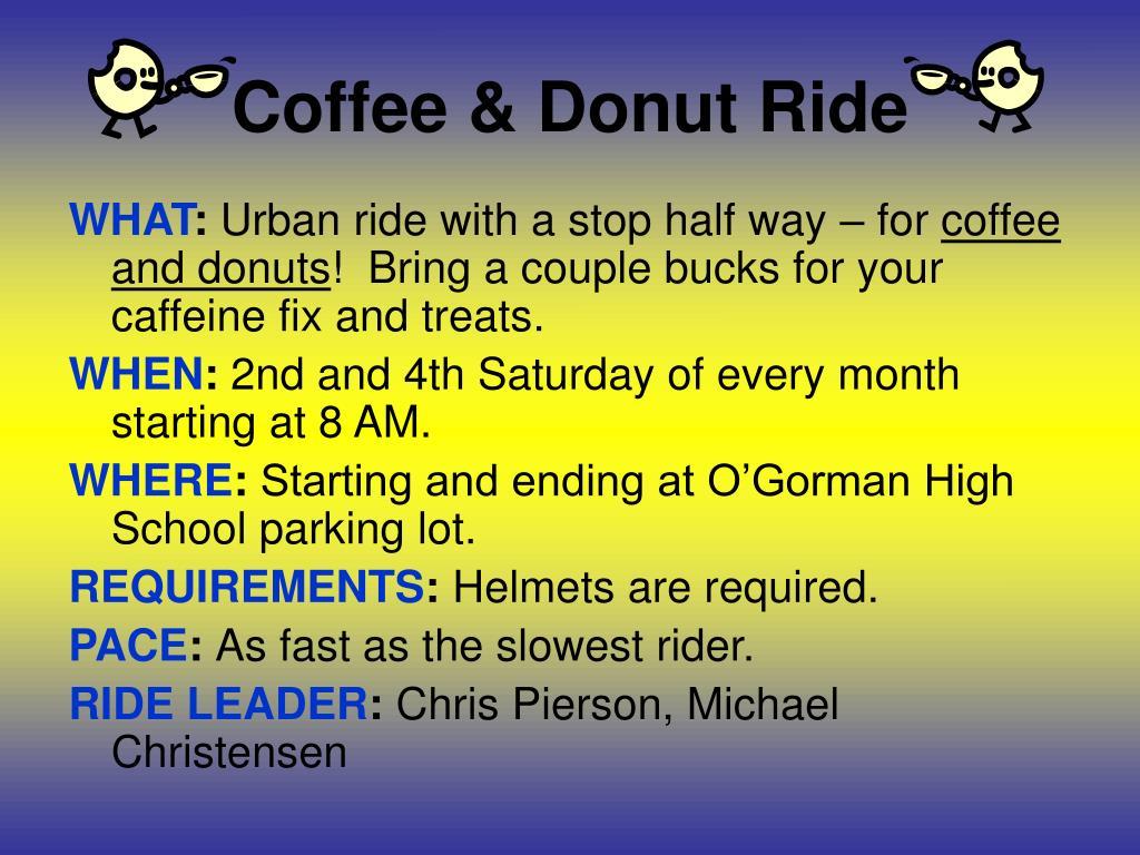 Coffee & Donut Ride