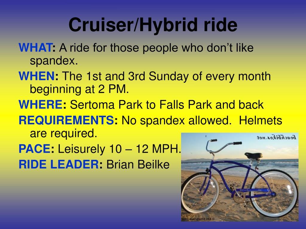 Cruiser/Hybrid ride