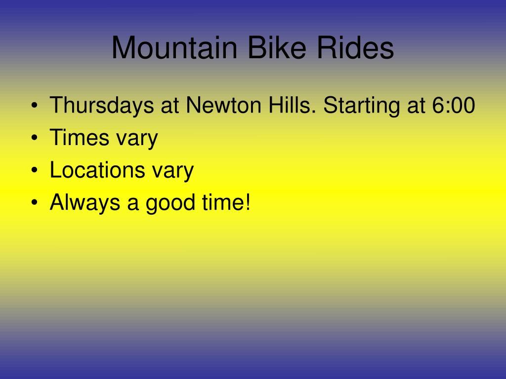 Mountain Bike Rides
