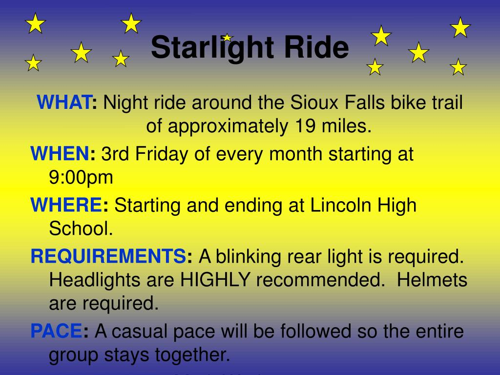 Starlight Ride