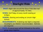 starlight ride