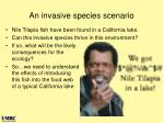 an invasive species scenario