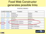 food web constructor generates possible links