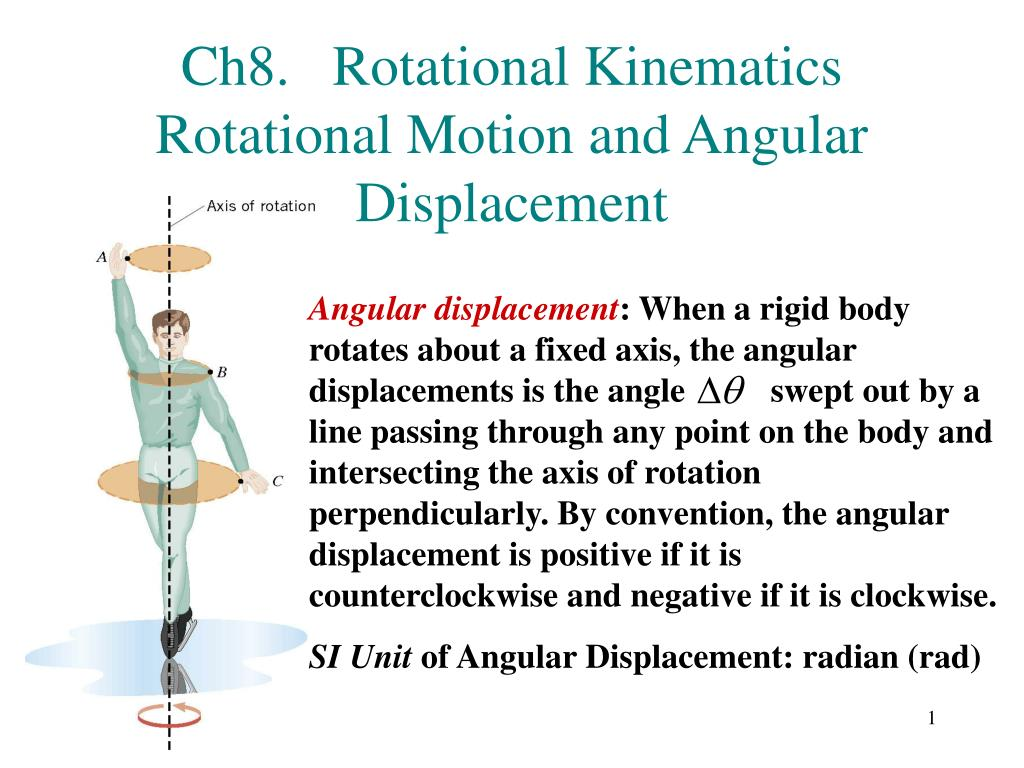 ch8 rotational kinematics rotational motion and angular displacement l.