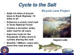 cycle to the salt bicycle lane project11