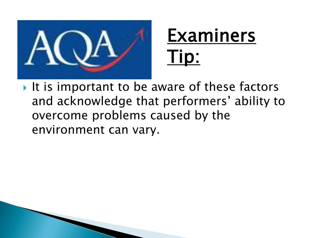 Examiners Tip: