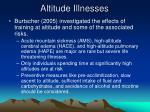 altitude illnesses