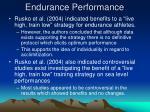 endurance performance