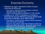 exercise economy
