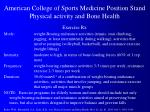 american college of sports medicine position stand physical activity and bone health