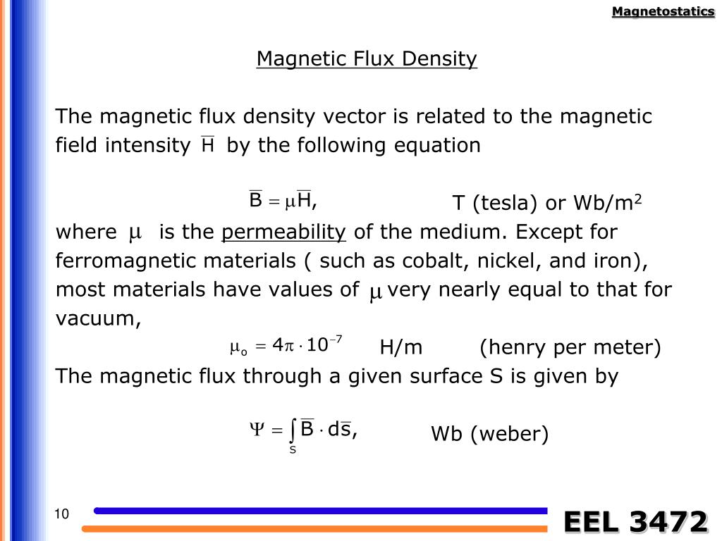 Magnetic Flux Density