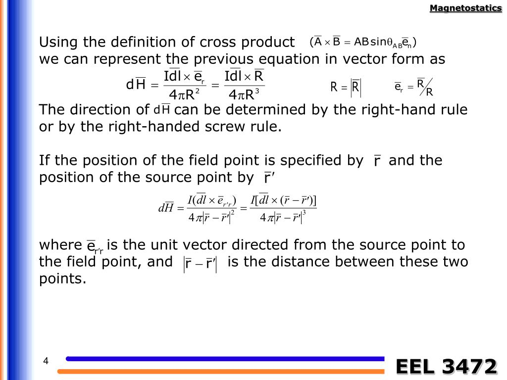 Using the definition of cross product