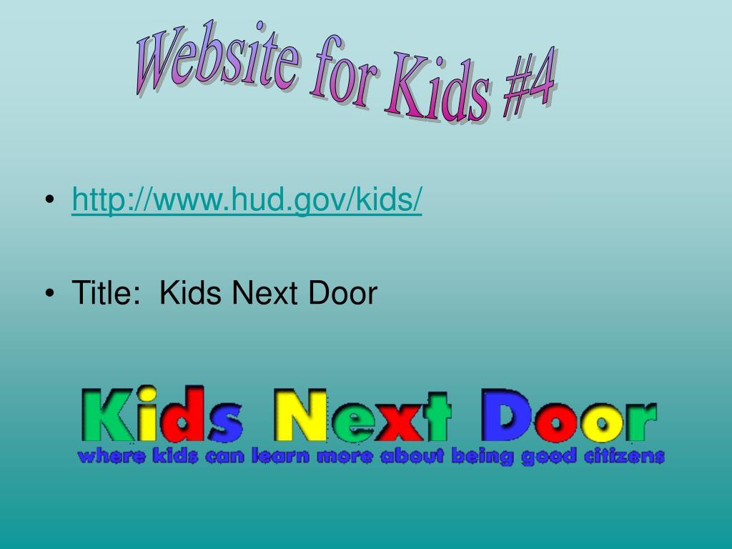 Website for Kids #4