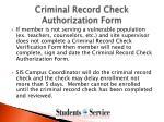 criminal record check authorization form
