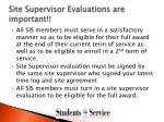 site supervisor evaluations are important