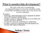 what is membership development