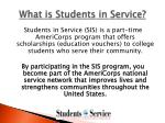 what is students in service