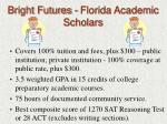 bright futures florida academic scholars