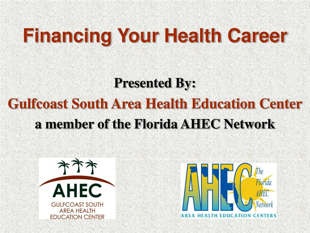 financing your health career l.