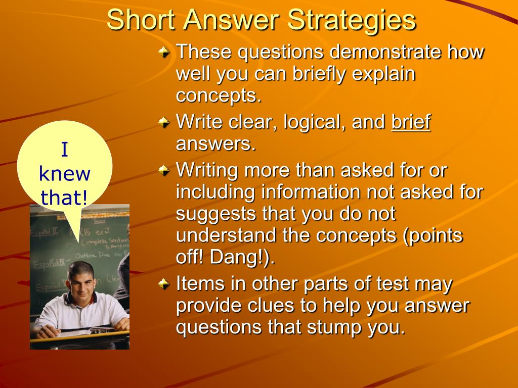 Short Answer Strategies