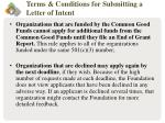 terms conditions for submitting a letter of intent39