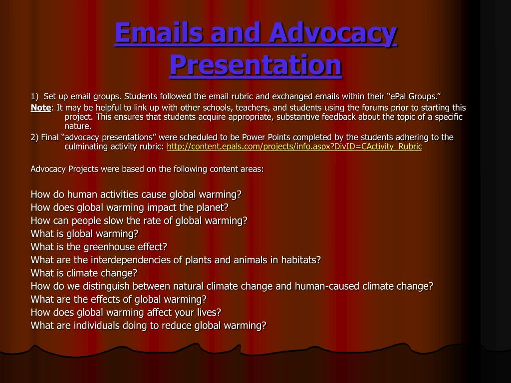 Emails and Advocacy Presentation