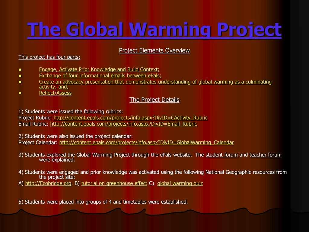 The Global Warming Project