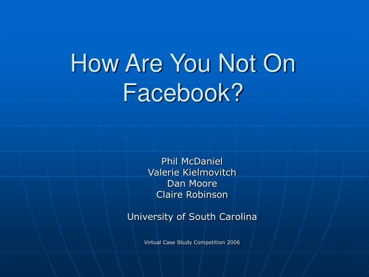 outline of study on facebook