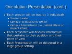 orientation presentation cont