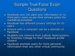 sample true false exam questions