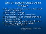 why do students create online profiles