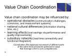 value chain coordination