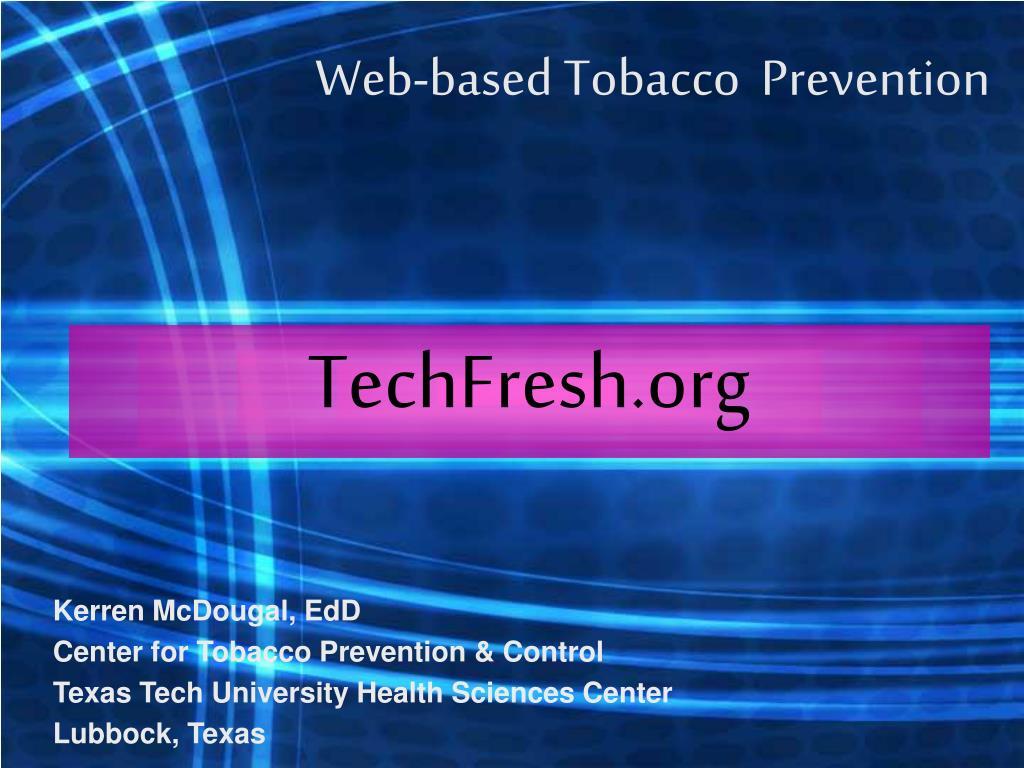 web based tobacco prevention