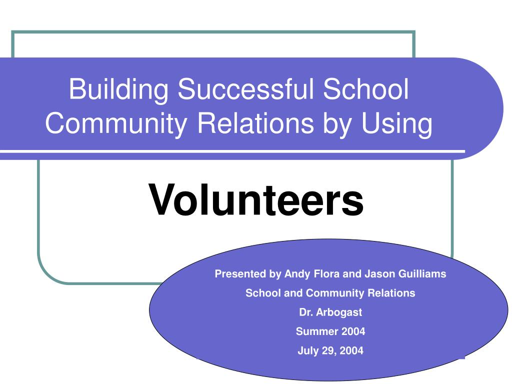 building successful school community relations by using l.