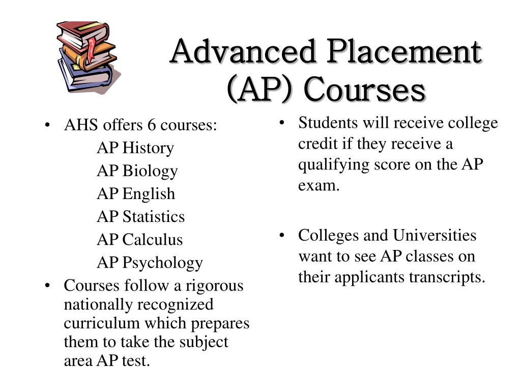 AHS offers 6 courses: