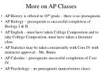 more on ap classes