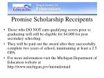 promise scholarship receipents