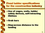 fixed ladder specifications for the construction industry21