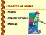 hazards of stairs