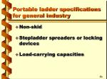portable ladder specifications for general industry16