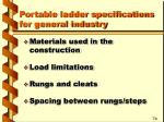portable ladder specifications for general industry17
