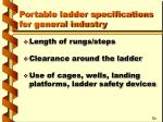 portable ladder specifications for general industry18