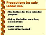 precautions for safe ladder use29