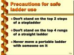 precautions for safe ladder use32
