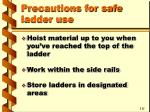 precautions for safe ladder use33