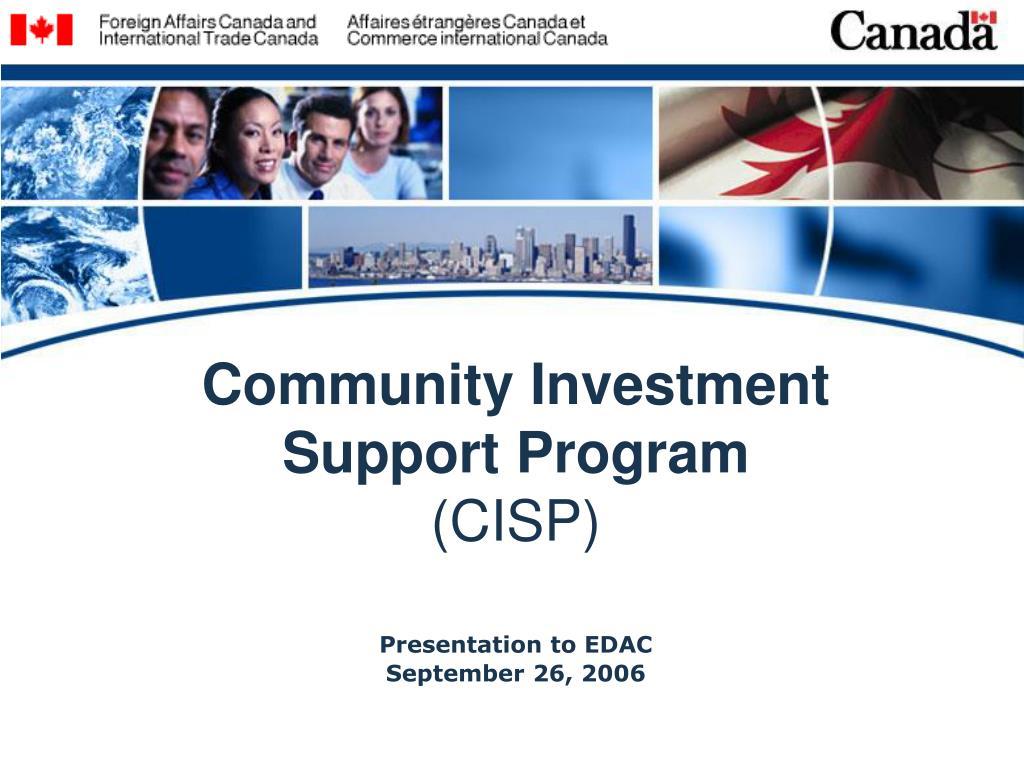 community investment support program cisp l.
